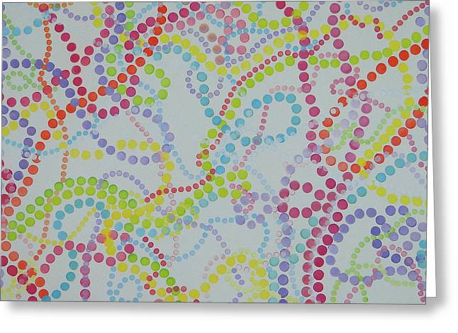 Beads And Pearls - Happy Day Greeting Card