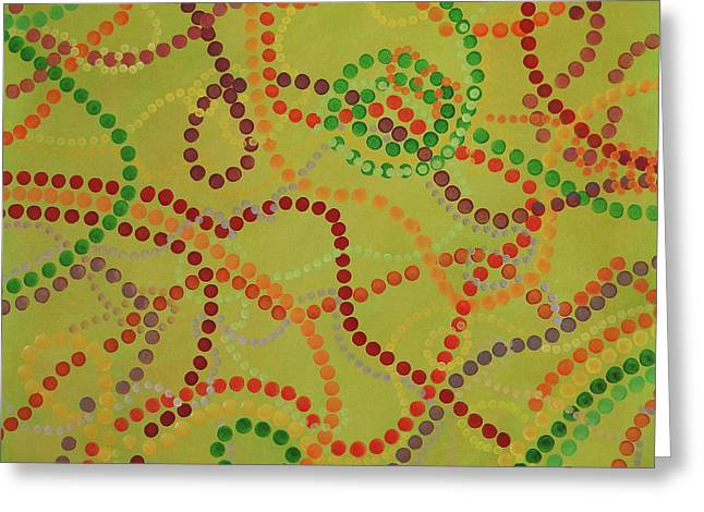 Beads And Pearls - September Greeting Card