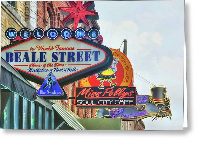 Greeting Card featuring the photograph Beale Street by JAMART Photography