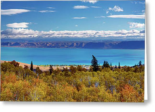 Bear Lake Panoramic Greeting Card by Leland D Howard