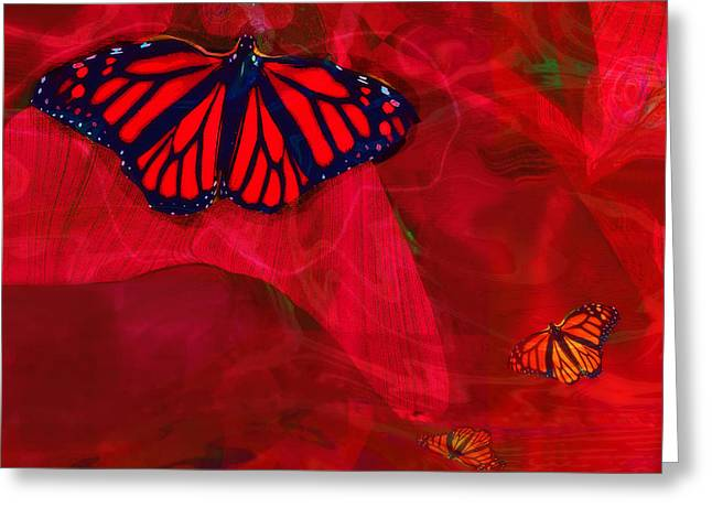 Beautiful And Fragile In Red Greeting Card