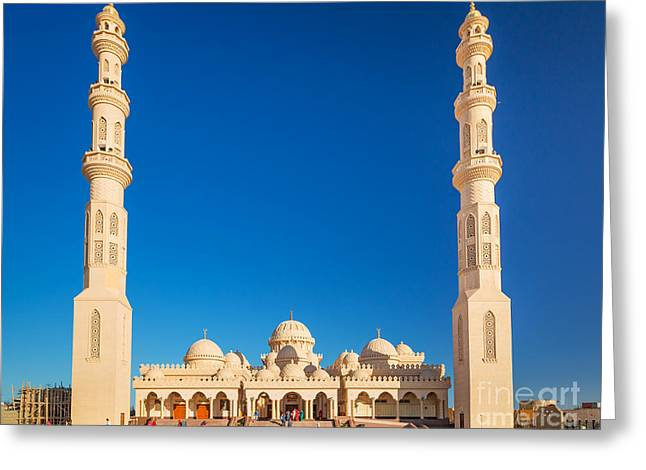 Beautiful Architecture Of Mosque In Greeting Card