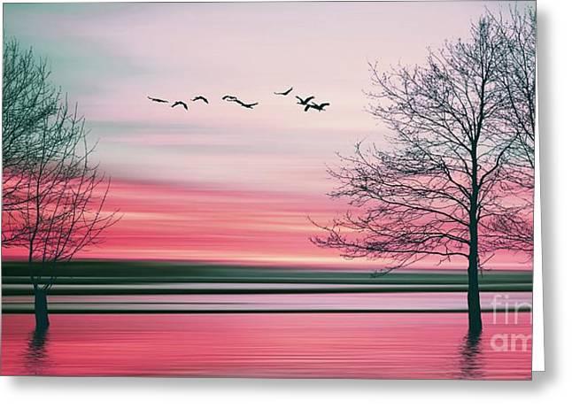 Beautiful Colorful Natural Landscape Greeting Card