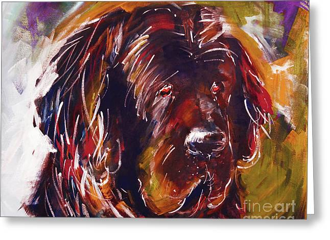 Beautiful Dog Painting  Greeting Card