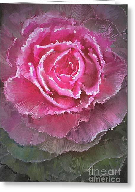 Beautiful Flowering Cabbages,digital Greeting Card