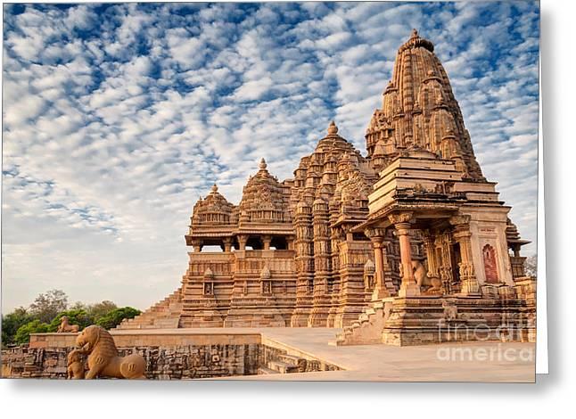 Beautiful Image Of Kandariya Mahadeva Greeting Card