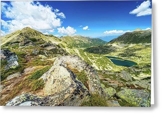 Greeting Card featuring the photograph Beautiful Landscape Of Pirin Mountain by Milan Ljubisavljevic