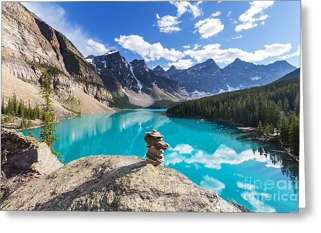 Beautiful Moraine Lake In Banff Greeting Card