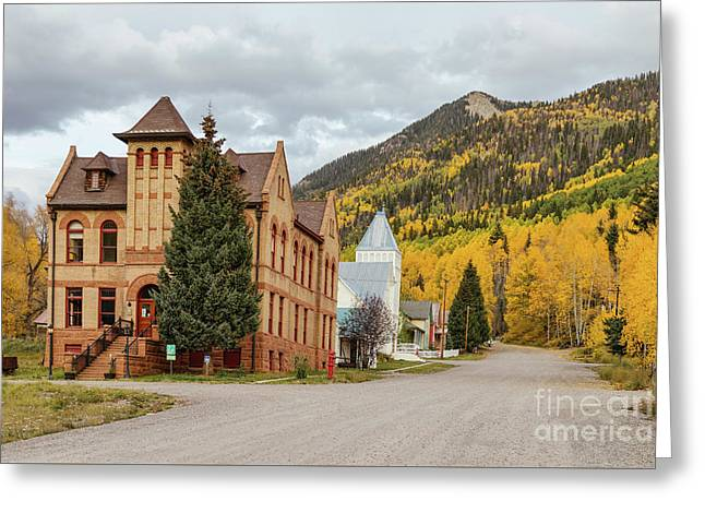 Greeting Card featuring the photograph Beautiful Small Town Rico Colorado by James BO Insogna