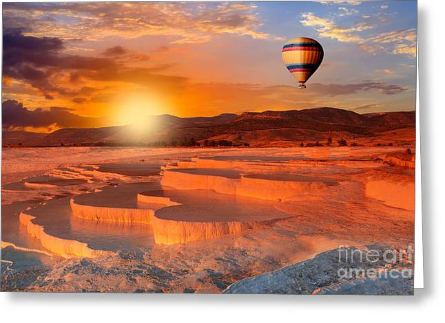 Beautiful Sunrise And Natural Greeting Card