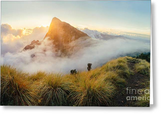 Beautiful Sunrise In The Mountains Greeting Card