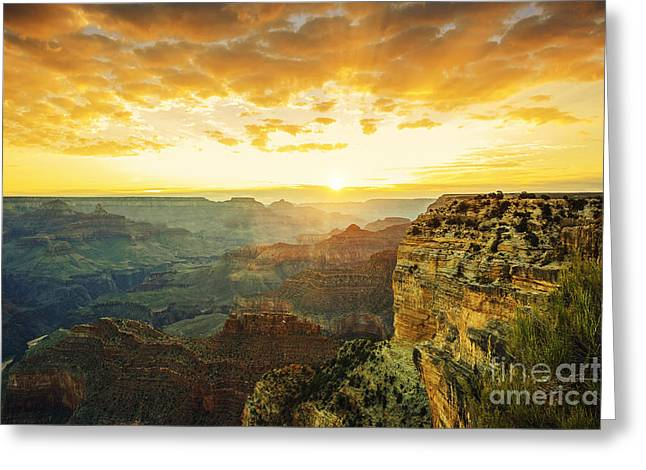 Beautiful Sunset At Monument Valley, Usa Greeting Card