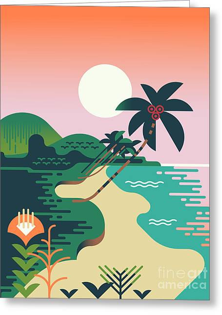 Beautiful Vector Flat Design Greeting Card