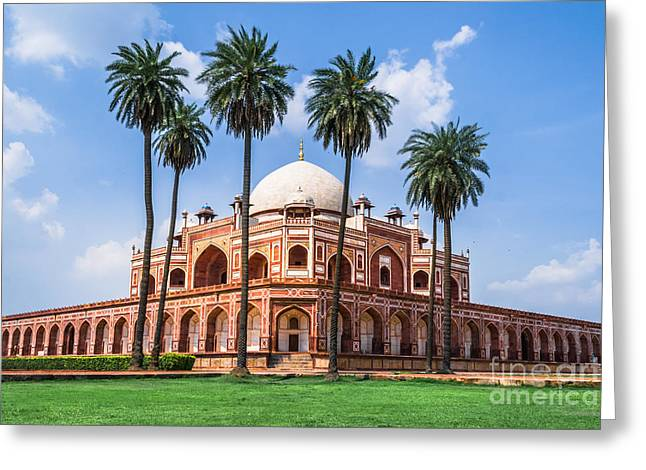 Beautiful View Of Humayuns Tomb Greeting Card