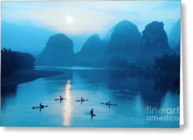 Beautiful Yangshuo Scenery In Greeting Card