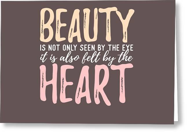 Beauty Heart Greeting Card