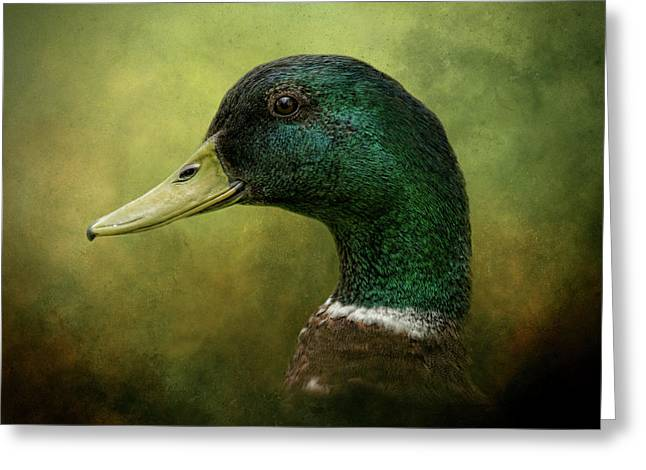 Beauty In Green Greeting Card