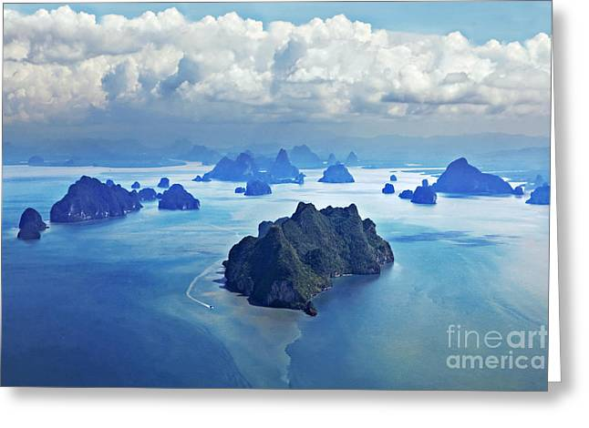 Beauty Islands Like On Mars, Aerial Greeting Card