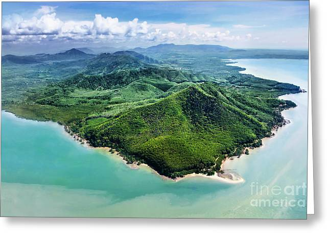 Beauty Islands, View From The Plane Greeting Card