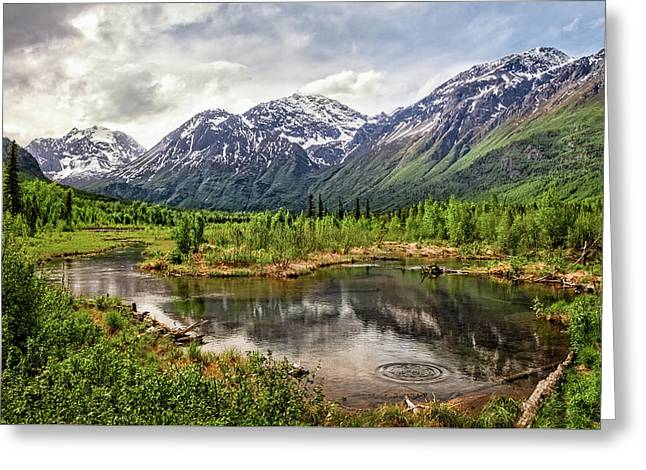 Beaver Pond, Eagle River Ak Greeting Card