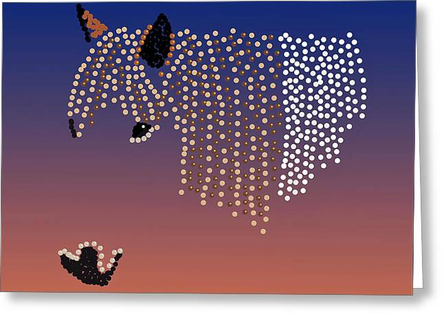 Bedazzled Horse's Mane Greeting Card