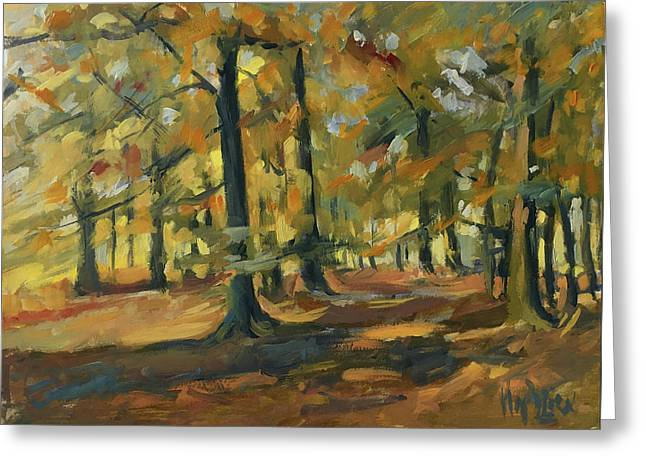 Beeches In Autumn Greeting Card