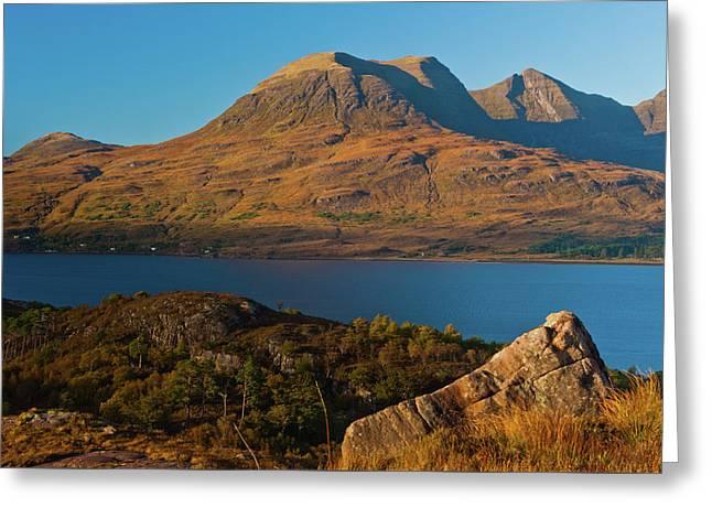 Beinn Alligin And Loch Torridon Greeting Card by David Ross
