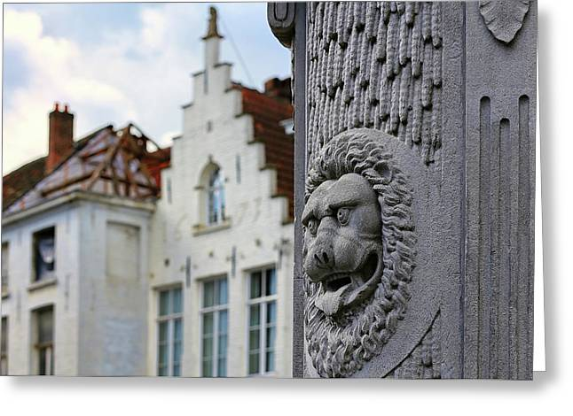 Greeting Card featuring the photograph Belgian Coat Of Arms by Nathan Bush
