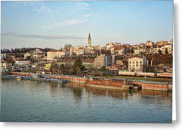 Greeting Card featuring the photograph Belgrade Cityscape by Milan Ljubisavljevic