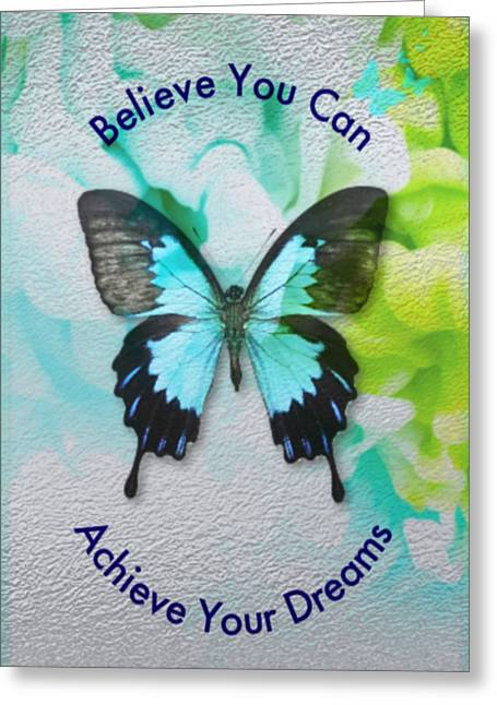 Greeting Card featuring the digital art Believe by Sabine ShintaraRose