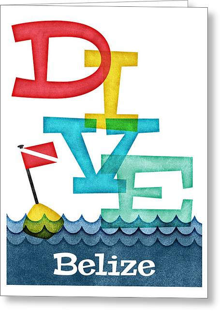 Belize Dive - Colorful Scuba Greeting Card