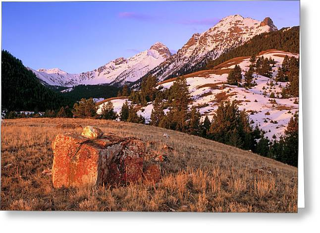 Bell Mountain Sunrise Greeting Card by Leland D Howard