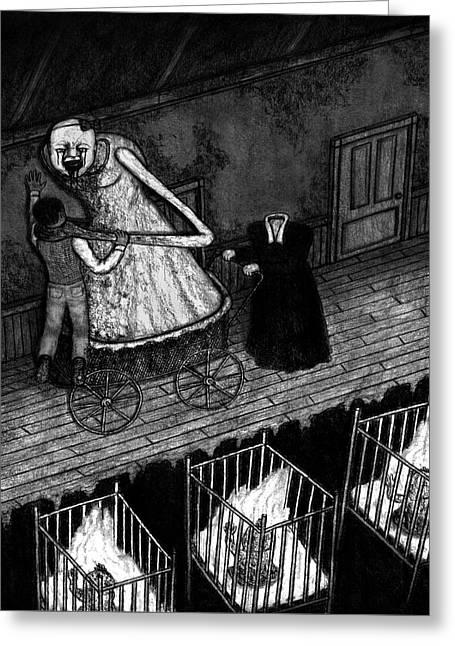 Bella The Nightmare Carriage - Artwork Greeting Card