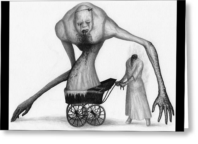 Bella The Nightmare Carriage Updated - Artwork Greeting Card
