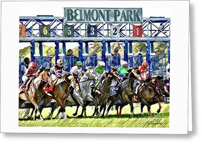 Belmont Park Starting Gate 1 Greeting Card