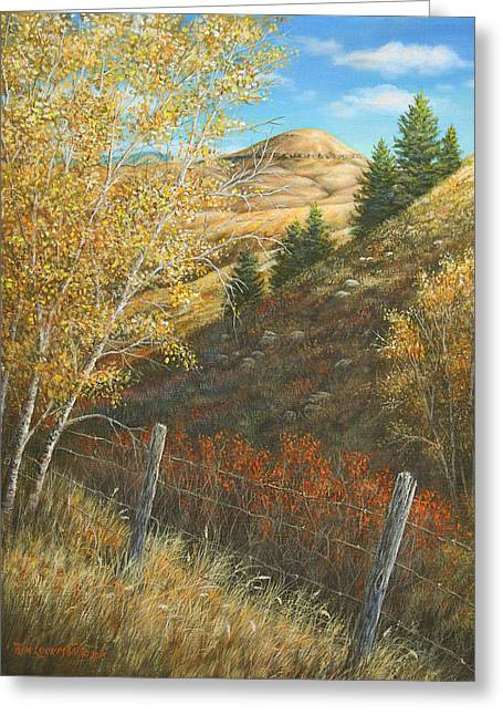 Belt Butte Autumn Greeting Card