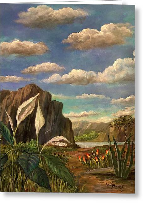 Beneath The Clouds Of Africa Greeting Card