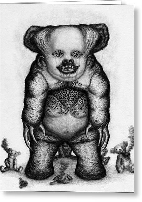 Benjamin The Nightmare Bear Artwork Greeting Card