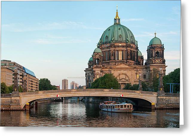 Berliner Dom And River Spree In Berlin Greeting Card
