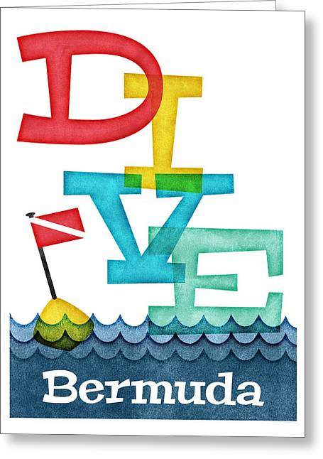 Bermuda Dive - Colorful Scuba Greeting Card