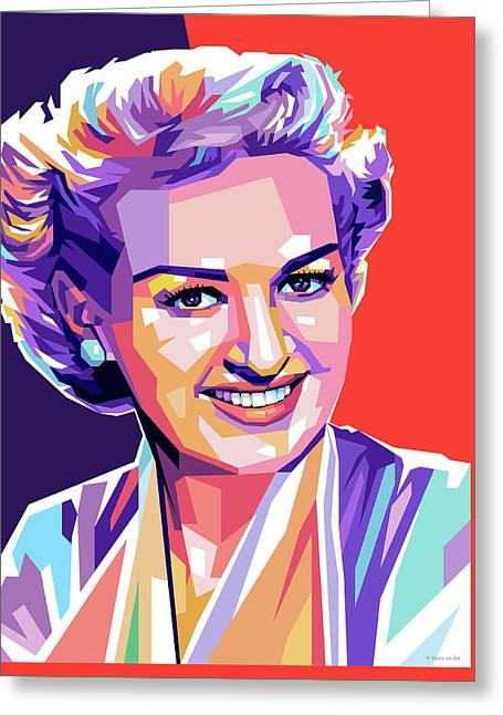 Betty Grable Pop Art Greeting Card