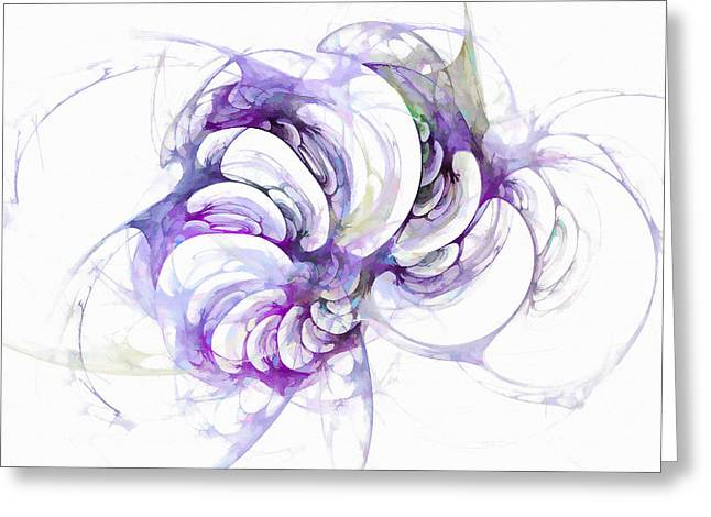 Beyond Abstraction Purple Greeting Card