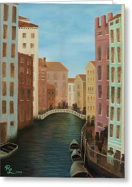 Beyond The Grand Canal Greeting Card