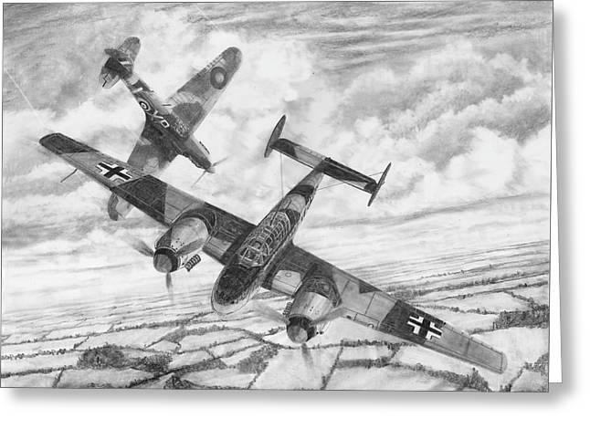 Bf-110c Zerstorer Greeting Card