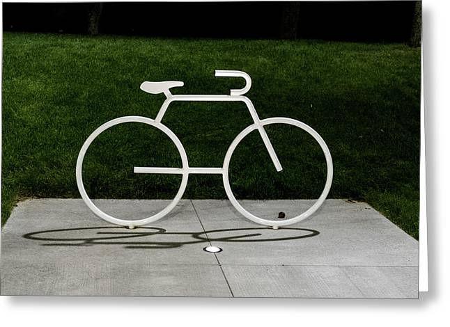 Greeting Card featuring the photograph Bicycle by Randy Scherkenbach