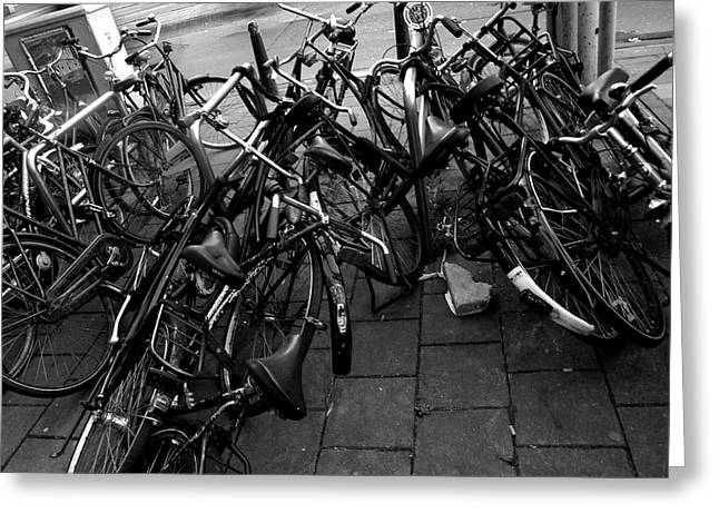 Greeting Card featuring the photograph Bicycles  by Edward Lee
