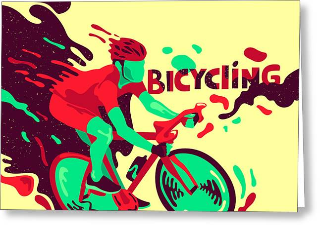 Bicycling. Healthy Lifestyle. Sports Greeting Card
