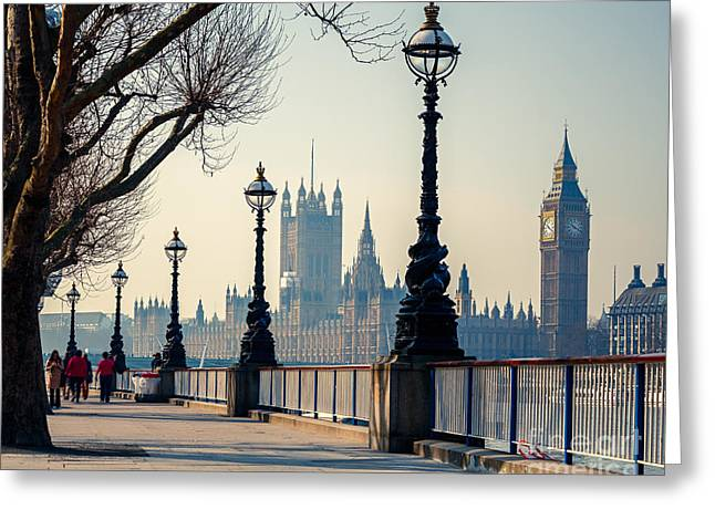 Big Ben And Houses Of Parliament In Greeting Card