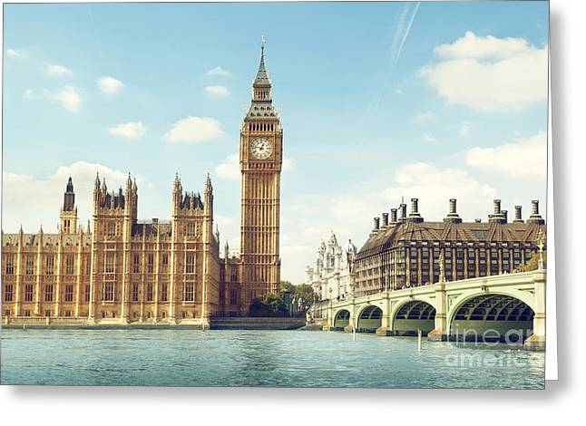 Big Ben In Sunny Day, London Greeting Card