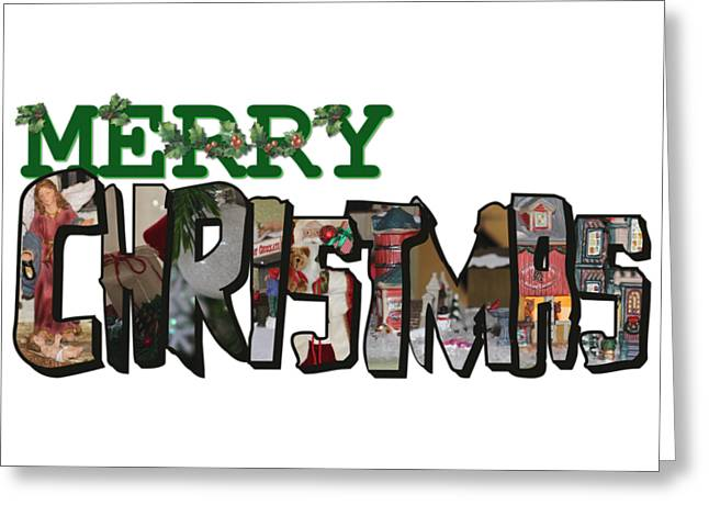 Big Letter Merry Christmas Greeting Card